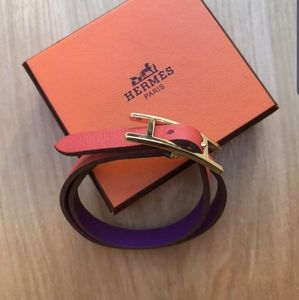 Hermes Behappi double tour bracelet.